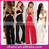 Wholesale long sleeveless halter adult bodysuit romper womens playsuit girls wearing teddies