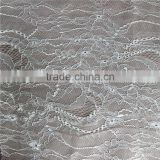 White tulle chantilly lace nylon orgarza fabric lace for wedding dress
