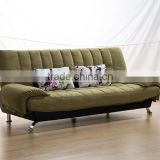 2016 direct factory supplying high quality modern design green fabric sofa bed for living room furniture