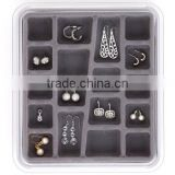 Best quality plastic customized jewelry storage box jewelry box for earring,neck lace,bracelet,ring,anklet