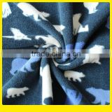 100% Polyester Printed Polar Fleece Anti-pilling One Side Double Brushed Cartoon Figure Teddy Bear blue Color