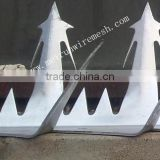 security wall spikes/steel anti climb spikes/metal fence spikes/security wall spikes razor barbed wire