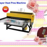 High pressure 80x80cm auto air operated double location/ station heat transfer press mach