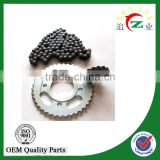 high quality motorcycle front and rear sprocket