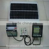 Green energy stand-alone High quality off grid auto switch 150w solar powered indoor led light
