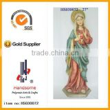 Hand carving resin statue catholic religious items wholesale custom design resin catholic religious items souvenir