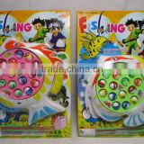 intellectural BO fishing game toys with music for kids, innovative fishing game set with music,