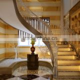 modern design indoor crystal spiral staircase glass spiral staircase