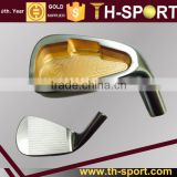 Golf irons golden plating with graphite shaft