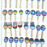 Small coconut maracas world known traditional latin percussion music instruments, handmade