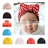 2017 Star Print Baby Bowknot Knot Hooded Hat Indian Hoods European and American Fashion Kids Hat