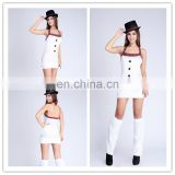 Fantasy design sexy snowman olaf mascot costume for adult