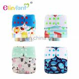 Elinfant Washable Coffee Fiber Fleece Cloth Diaper With Flexible tab Reusable Baby cloth diaper factory