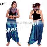 Casual High Waist Flare Wide Lag Palazzo Pants- New Women Baggy Harem Pants- Indian Hippie Wide Leg -