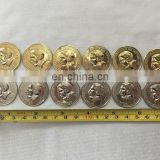 Factory wholesale 3cm tribal silver and golden 3D fake belly dance coins accessory P-9064