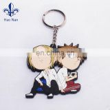 new fashion promotion plastic rubber keychain