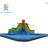 Most Popular PVC Blow up kids mobile inflatable octopus water slide amusement park for sale