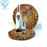 Wooden Shape Clear Acrylic Wine Rack Acrylic Liquor/Drinks/Beverage Dispaly Holder Stand