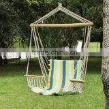 Cotton Fabric Hammock Chair, Tree Hanging Swing Outdoor Indoor