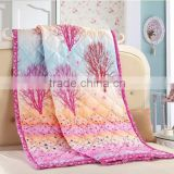 home textile wholesale reactive print high quality oriental design pink trees pattern microfiber comforter set
