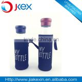 stainless steel cover glass water bottle with tea fiiter