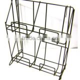 2 Tier Wire Counter Top Black Literature Books Magazines Brochures Display Rack/wire magazine rack
