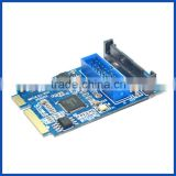 Mini pcie PCI-Express to USB 3.0 19pin Header converter Card adapter