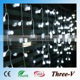140LED 4*0.5M led Xmas lights holiday decoration window curtain heart/star/butterfly/cherry artificial flower crystal lights