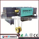 Lifting speed 0.8/5 m/min european type electric hoist bridge crane