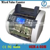 Mixed Denomination & Multi-Currency Counter/Money Counter/Bill Counter with UV,MG/MT,IR Detection for USD&British Pound(GBP)