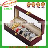 Custom Luxury Walnut Wooden Watch Box, Watch Packaging Box, Custom Printing Paper Watch Box