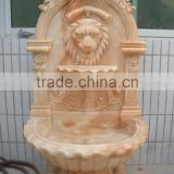 Garden Carving Animal Lion Head Wall Water Fountain