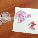 Custom metal etching paper die cut stencil for scrapbook                                                                         Quality Choice