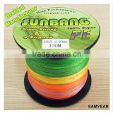 OEM Fishing Tackle China Strong PE Fishing Braided Line Multicolor