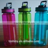 Taizhou Factory BPA free TRITAN Bottle with Straw and Ice Stick Plastic Water Bottle with Printing Design