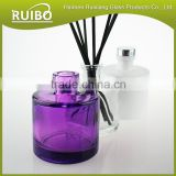 Glass bottle factory wholesale 200ml reed diffuser glass bottle with black rattan sticks