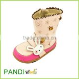 Fashion boots shoes for lady girl student with lovely rabbit as baby's christmas gift