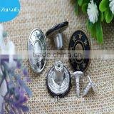 rhinestone jean button for jacket polished shine bright metal button for jeans 12years experience