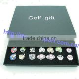 42pcs different pattern golf ball marker gift box for magnetic golf divot and hat clip christmas gift for golfer