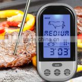 Digital Wireless Remote Kitchen Oven Food Cooking,BBQ Grill Smoker Meat Thermometer With Sensor Probe,Temperature Gauge&Alert