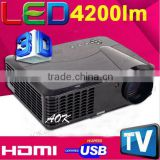 4200 Lumens LED Video TV Beamer Projector for Home Theater Cinema Multimedia Player with HDMI /AV/VGA/USB TV Projectors                                                                         Quality Choice