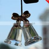 bulk newest crystal star pendant/drop crystal christmas bell ornaments