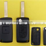 Citroen 407 3 button flip key shell for Citroen C3 C4 C5 remote key blank case with light button