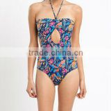 printed one piece women ladies beauti sex swimwear
