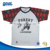 Full sublimated high school argyle design custom box team usa shooting lacrosse jersey