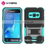 Manufacturer wholesale cheap hybrid heavy duty pc+tpu flip cover case for samsung J1 2016