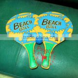 Beach entertainment wooden beach paddle ball set