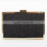 Luxury clutch box evening bag with detachable chain