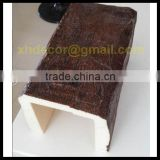 Eco-friendly material U shape light weight for ceiling decoration faux imitation polyurethane wood beam