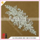 HC-2576-1 Hechun Polyster White Custom Wholesale Sequin Lace Applique